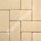 white brick pavers