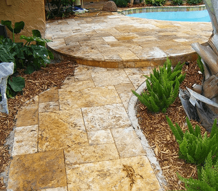 Tampa pool paver installation