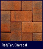 Blended Gray Cement Based Colors | Red Tan Charcoal