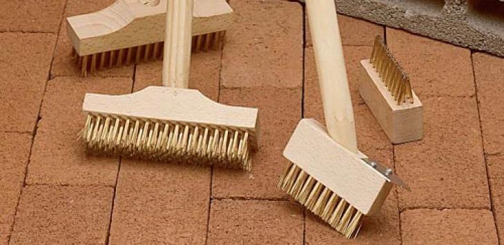How to clean brick pavers | stiff brush