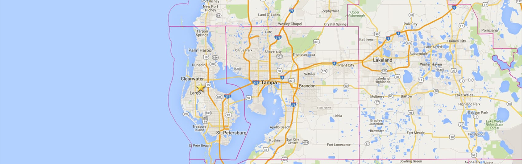 Areas we Serve in Tampa Bay
