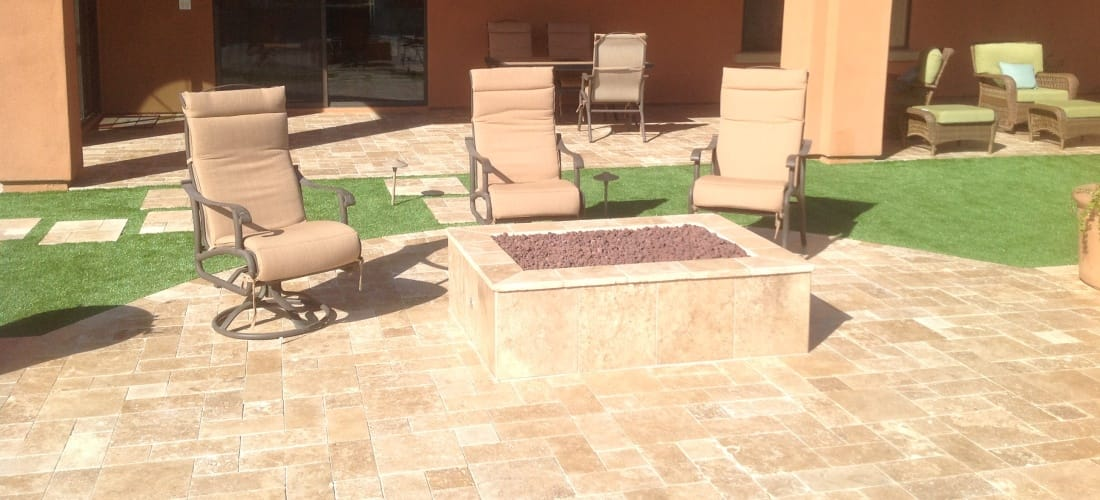 Which Fire Pit is right for your patio? Paver House | Travertine Paver Fire-Pit