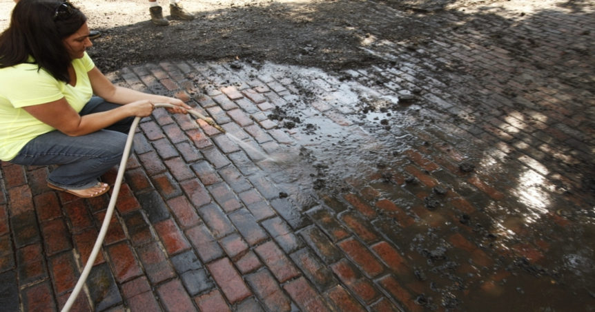 Clean Brick Pavers