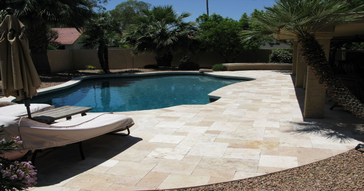 How to Clean Travertine Pavers