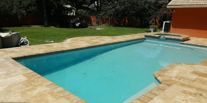 Tampa Pool Deck Travertine Paver | Paver House