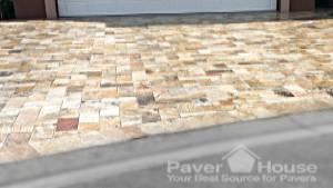 travertine paver on driveway paver house