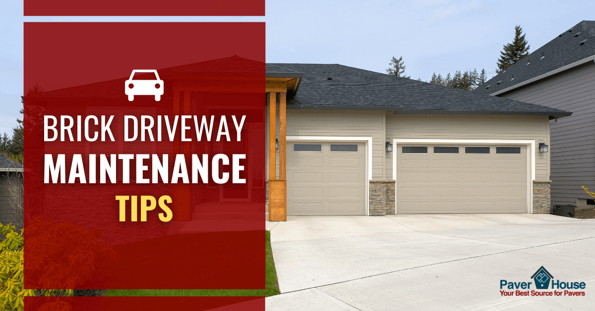 how to maintain brick driveway